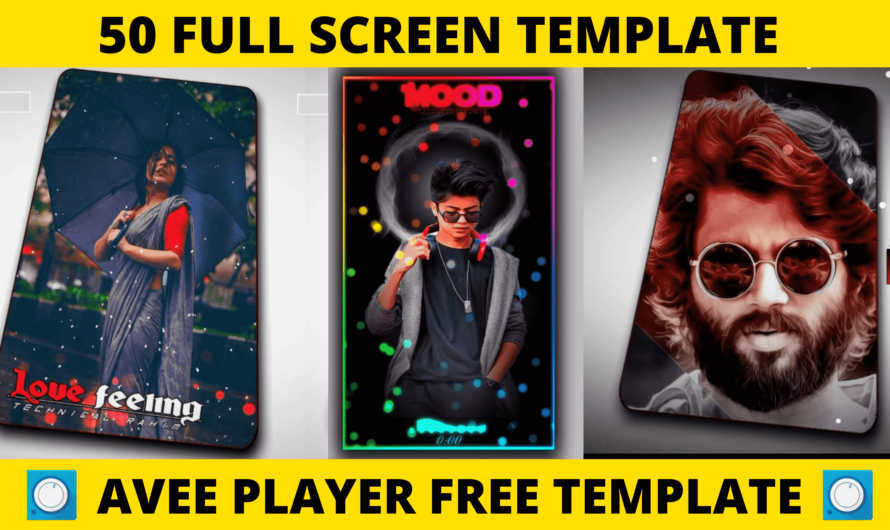 50 full screen template for avee player